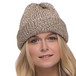 Mes Demoiselles Josy Gold Beanie Hat NWT